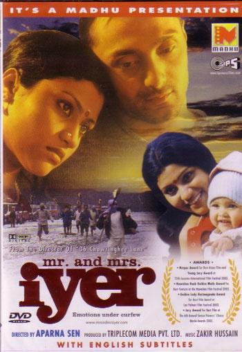 Mr. & Mrs. Iyer (2002). Thought-provoking movie by Aparna Sen.