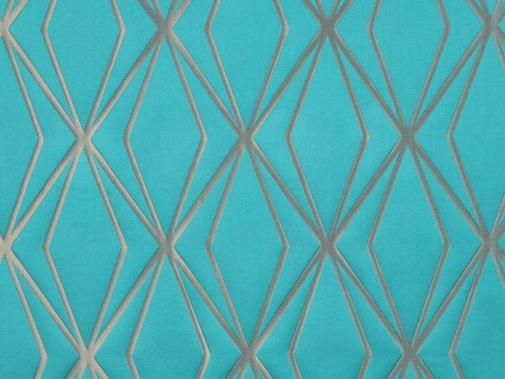 Milena Teal Fabric - A contemporary teal geometric design with a soft to touch silk-like feel.  From the Montgomery Edition Range and exclusive to Harvey Furnishings in NZ.