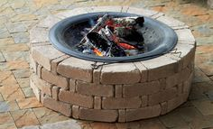 A RumbleStone Fire Pit is the perfect project for the weekend before the 4th of July!