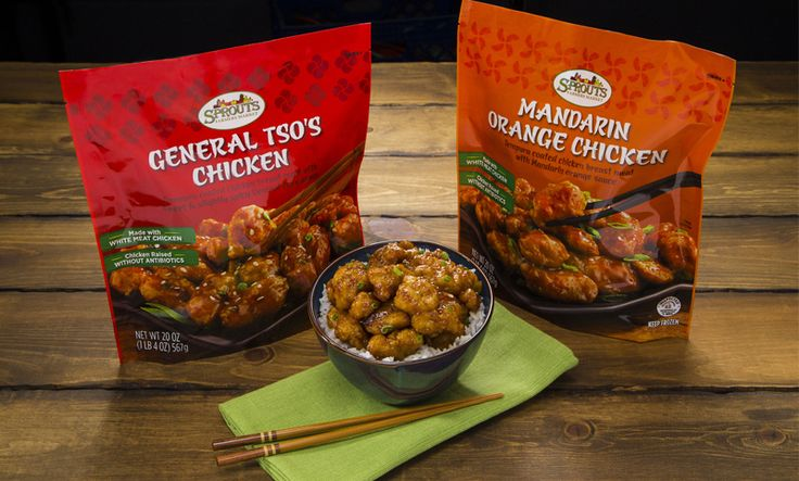 General Tso's and Mandarin Orange Chicken