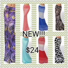 Brand new Buskins Maxi skirts. Stylish, classy, sleek and sassy.  What design is your favourite? http://mybuskins.com/#vrollinson reffering affiliate valarie rollinson #workinmybuskins