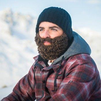 Caciula cu barba detasabila haioasa negru cu maro Beardo