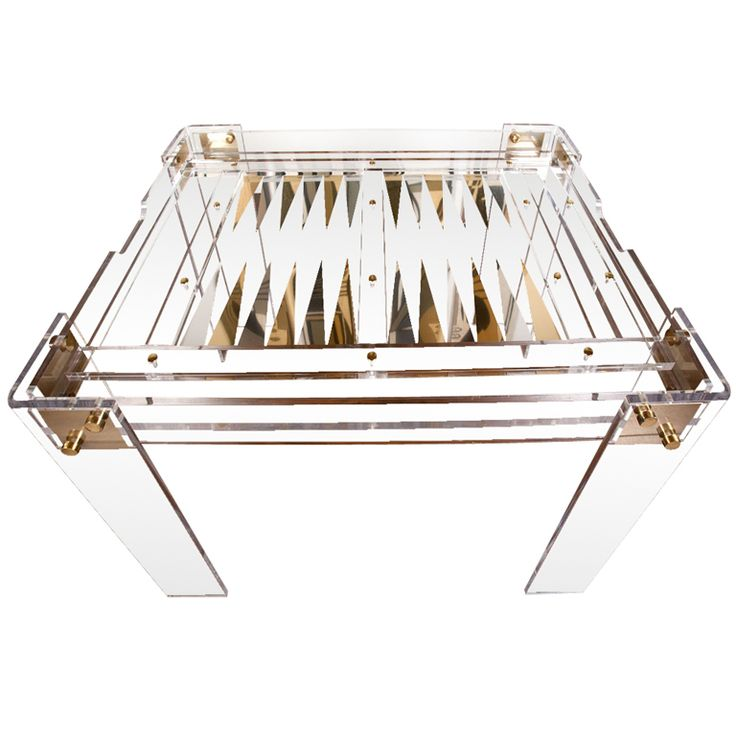 1970's Lucite Backgammon table by Charles Hollis Jones. RIDICULOUSLY amazing!