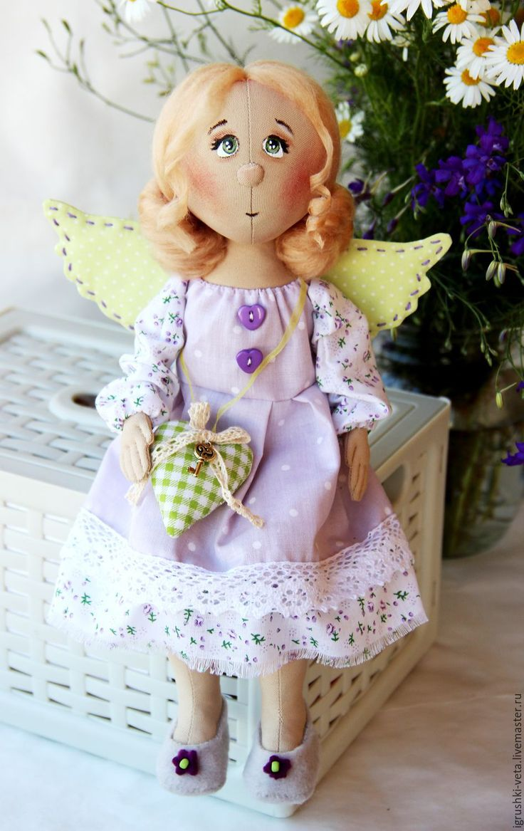 Купить или заказать Полюшка. Текстильная коллекционная кукла. в…