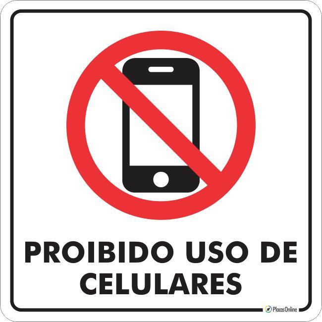 Placa  proibido uso de celular    PlacasOnline   Señalización en 2019    Room, Geek room y Home b1ea2d6450