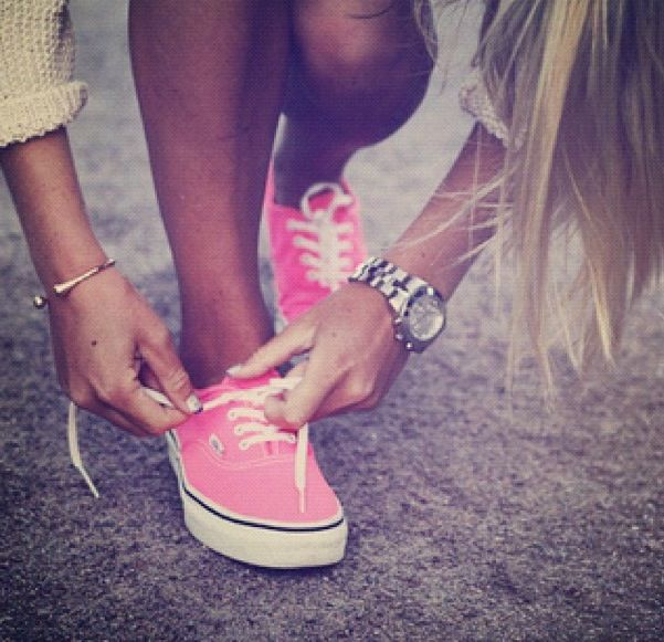 pink vans!! Want these!! :) or maybe purple vans to match my penny board....❤️