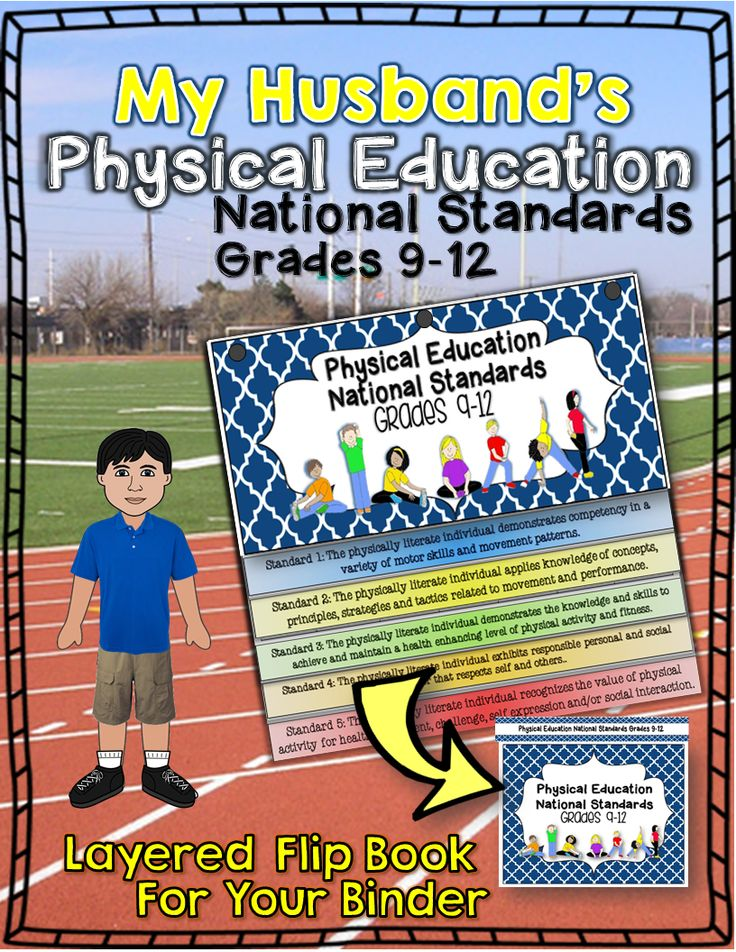 My Husband's Physical Education National Standards Binder Flip Book:Grades 9-12 ($)