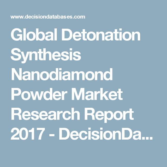 Global Detonation Synthesis Nanodiamond Powder Market Research Report 2017 - DecisionDatabases.com