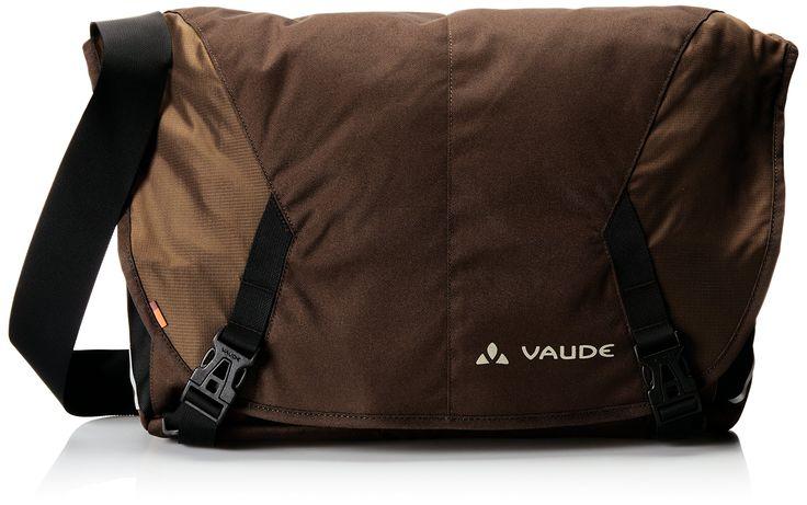"""Vaude Tecoleo Backpack, Bison, Large. Notebook compartment for 15.6"""" - 2 slide-in pockets - 2 inner mesh pockets. Key holder and pen holder - side zip pocket - back zip pocket. Integrated rain cover - removable hip belt - slide-stop shoulder padding."""
