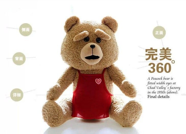==> [Free Shipping] Buy Best stuffed animal about 60cm teddy bear movie ted bear plush toy doll limbs and head can rotate 360 degrees ted toy b9100 Online with LOWEST Price | 1820808132
