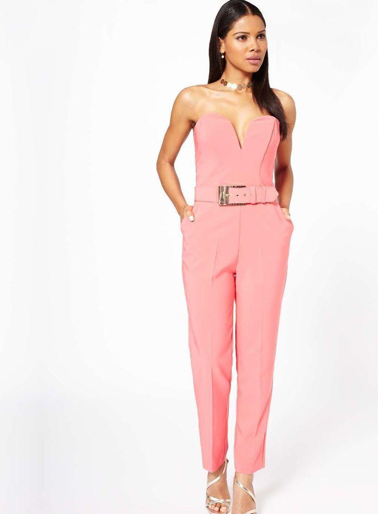 BNWT Miss Selfridge coral buckle jumpsuit - UK 10 Ebay miss selfridge jumpsuit - Fashiondivaly | Fashiondivaly