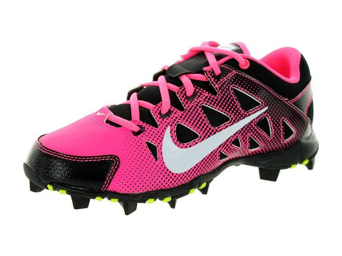 Nike Women\u0027s Hyperdiamond Keystone Digital Pink/White/Black Baseball Cleat  7 Women US