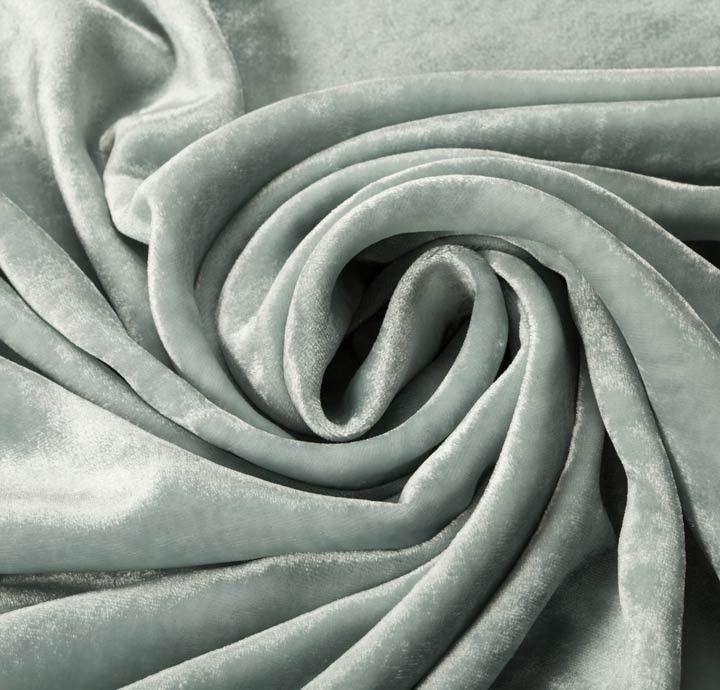 100% Rayon Velvet Blue Fabric - New Fabrics - Fabrics