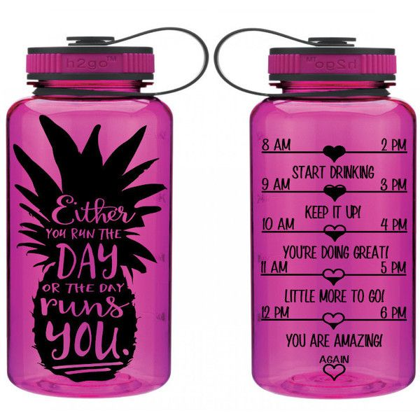 Unique Intake Bottle Run the Day Bpa   Workout Water Bottle Tracker 34... ($17) ❤ liked on Polyvore featuring home, kitchen & dining, food storage containers, drink & barware, drinkware, home & living, red, water bottles & vacuum flasks, monogrammed tote bags and red tote bag