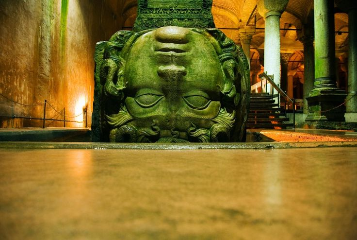 Why the Greek monster stares out from an ancient cistern in Istanbul
