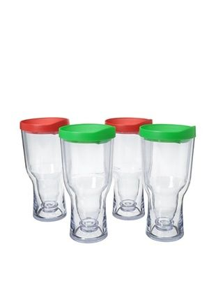 83% OFF AdNArt Set of 4 Brew to Go, Red/Green