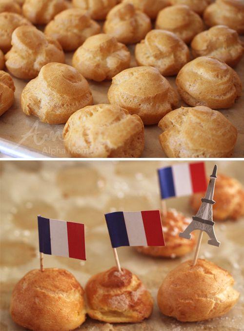 Profiteroles Recipe for Bastille Day Celebration by Brenda Ponnay for Alphamom.com