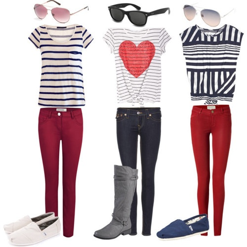 Valentine's Day outfits.