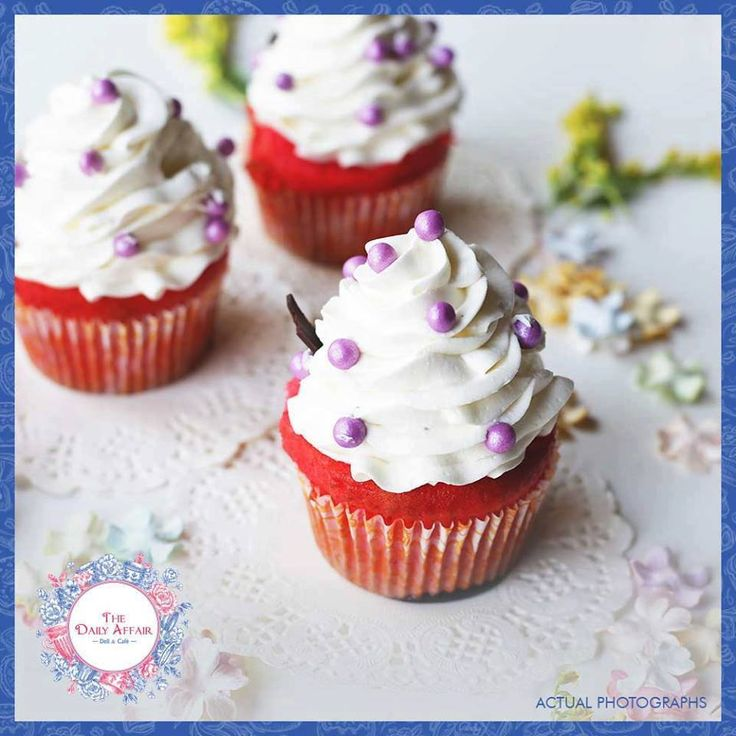 A red velvet cupcake makes the heart young again and wipes out the years. The Daily Affair Deli & Cafe  #thedailyaffair #dailyaffair #NaviMumbai #Kharghar #Delecious #cafe #cakes #donuts