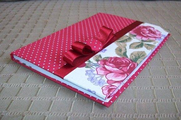Artesanato Duas Irmãs: Cadernos Lindos com tecidos