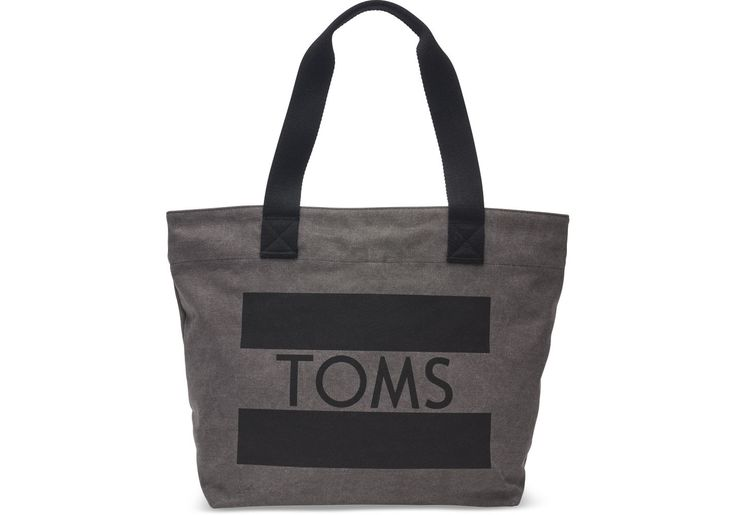 TOMS - Charcoal TOMS Flag Transport Tote Bag