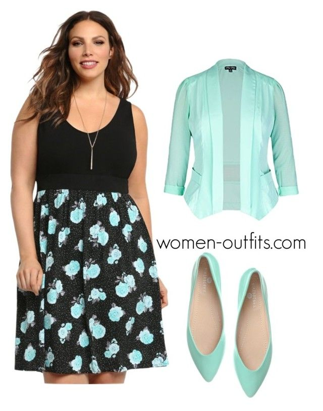 mint plus size dress by xwtiko on Polyvore