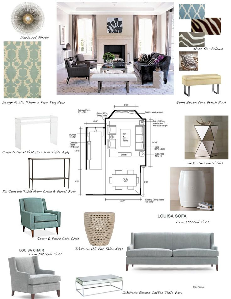 Interior Design Concept Development Boards | ... room design? On a budget & want a flat rate per room design package