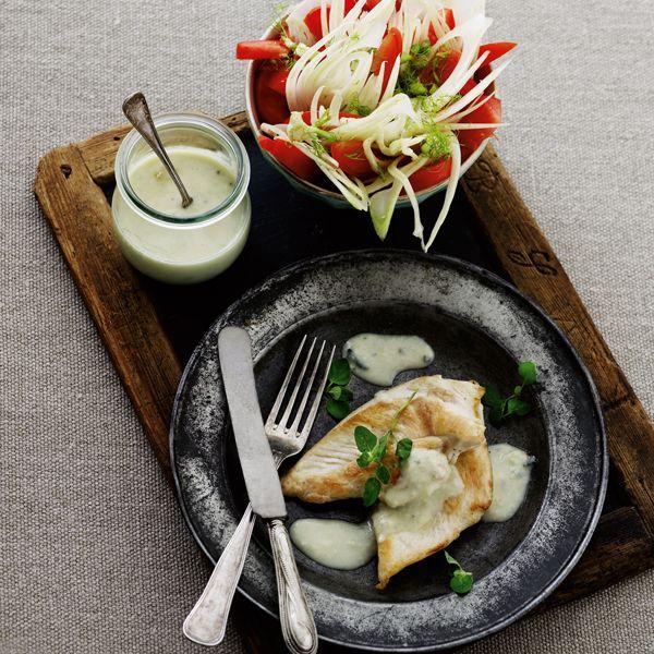 Kyllingefilet med gorgonzolasauce