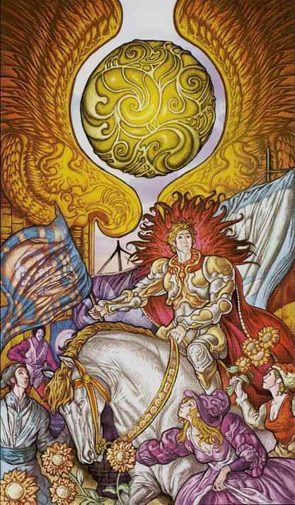 The Sun - Universal Fantasy Tarot. Just purchased this deck. After I work with there will be a review on www.thequeenssword.com