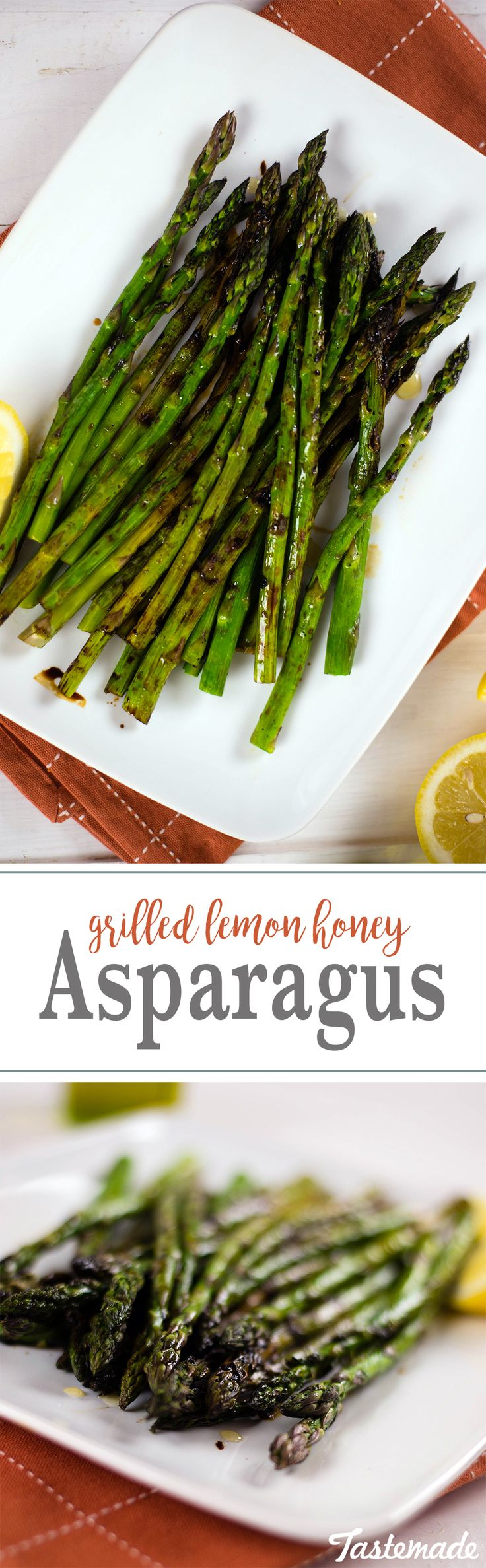 Grilled Lemon Honey Asparagus