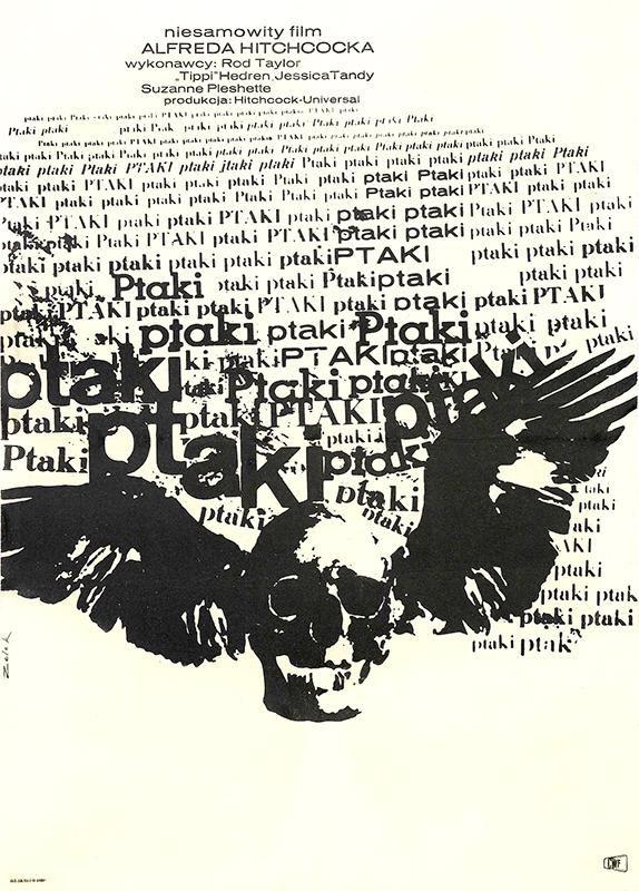 Typographic birds from Poland by Maciej Hibner, 1965 via @thinkstudionyc
