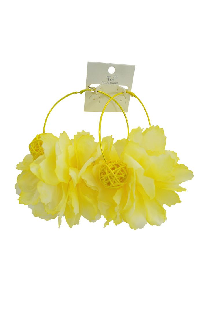Songbird tattoo created at www mrsite com - Summer Love Sun Kiss Oversized Yellow Flower Pom Pom Hoop Party Earrings