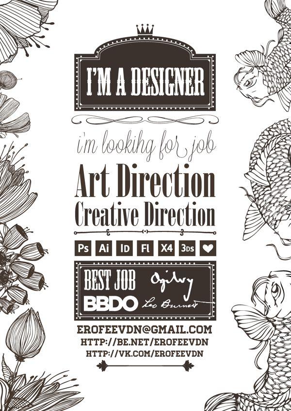 resume Designer,   handicraft by Дмитрий Ерофеев, via Behance