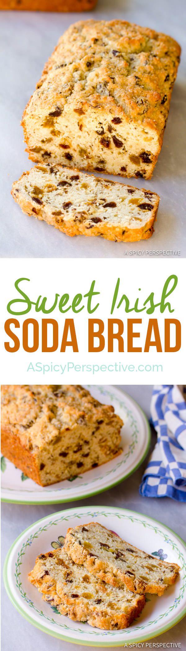 Sweet Irish Soda Bread | ASpicyPerspective.com