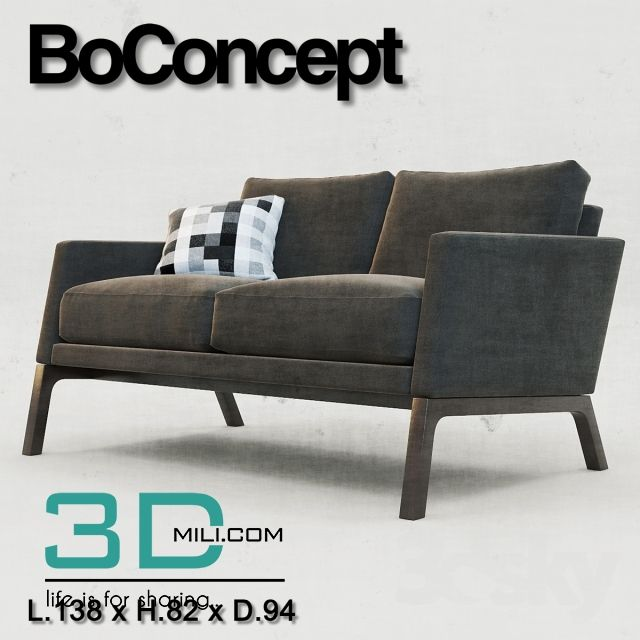 nice 176 .BoConcept Sofa 3D models for download Download here: http://3dmili.com/furniture/sofa/176-boconcept-sofa-3d-models-for-download.html