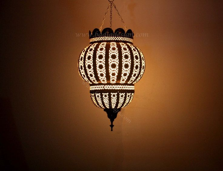 Badia Design Inc Store - Hanging Brass Lantern with White Film Material - LIG186, $845.00 (http://www.badiadesign.com/moroccan-hanging-brass-lantern-lig186/)