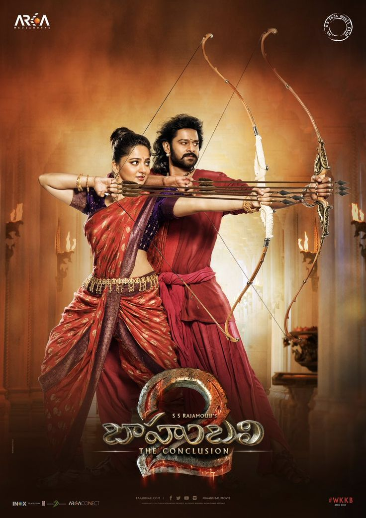 #SSRajamouli just revealed a new poster of #Bahubali2: The Conclusion, with #Prabhas and #AnushkaShetty. We cannot handle the excitement!