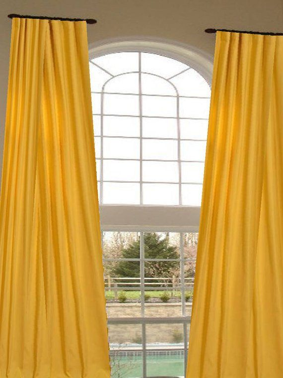 Wide From Small Window Through 2 Story Extra Long Curtains Custom Made Designer D Choose Your Length In 2018 Home Decor