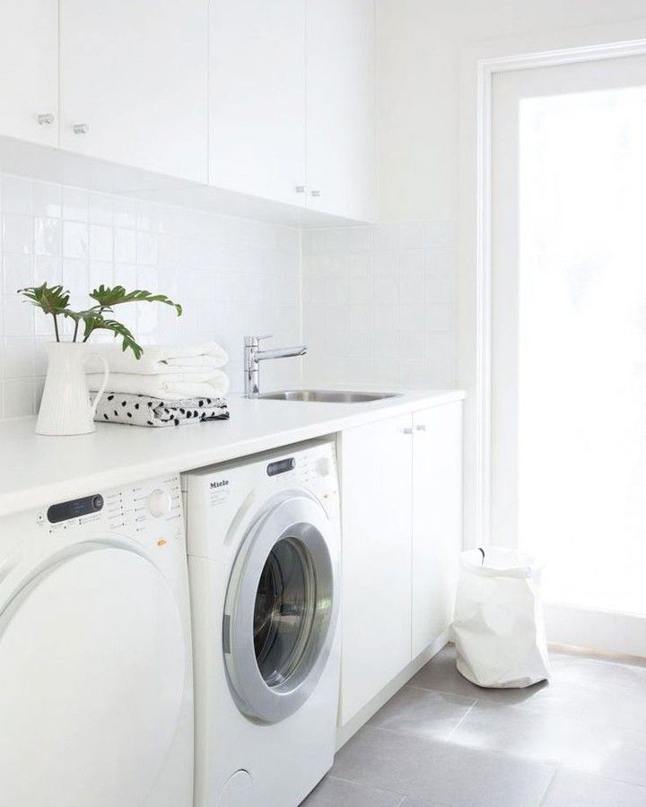 Your Life Made Simple Even Doing Laundry Is Calming When Your Space Has Luxury Design And Fini Stylish Laundry Room Modern Laundry Rooms White Laundry Rooms