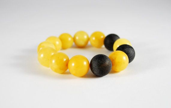 Unique Genuine Baltic Amber Beaded Bracelet 155 mm by AmberAndMore