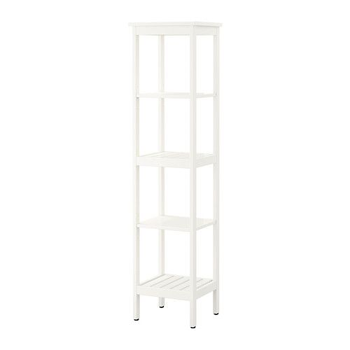 IKEA - HEMNES, Shelving unit, white, , The open shelves give an easy overview and easy reach.
