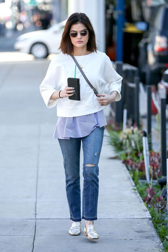 The Cutest Looks from Lucy Hale Street Style – We spotted the actress out for a coffee run recently in an outfit so versatile we ...