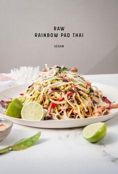 Raw Rainbow Pad Thai #vegan