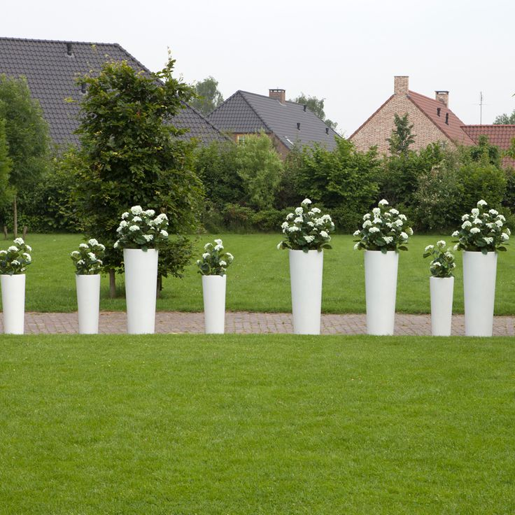Authenteak Tapered Vases   White: Purely Exceptional Planters. Modern  PlantersOutdoor ...