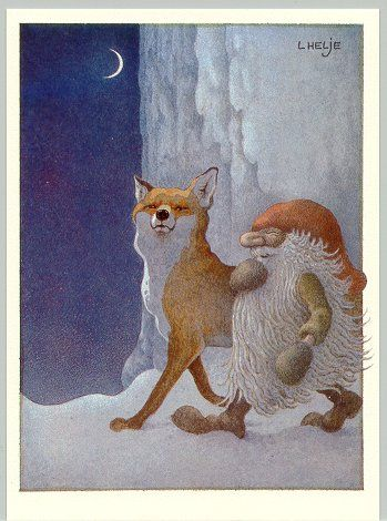By: Lennart Helje (I dont know the actual title, I call it Proud fox and big beard winter gnome