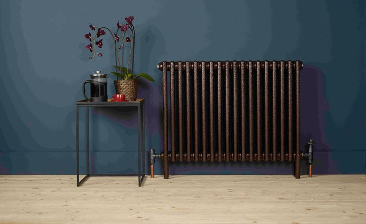 Charleston mild steel radiator in Copper Black, H50xW49cm, 1,634BTU, £181, Zehnder
