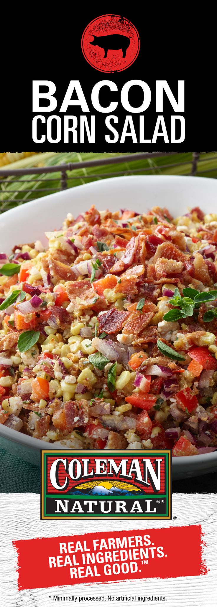 A delicious twist on salad, topped with our delicious Applewood Uncured Bacon - YUMMY!