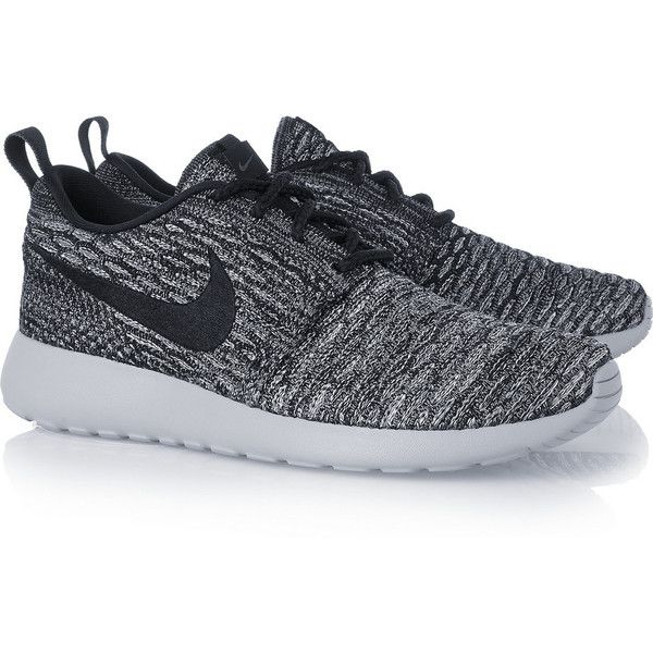 Nike Roshe One Flyknit mesh sneakers, Women's, Size: 8 ($150) ❤ liked on Polyvore