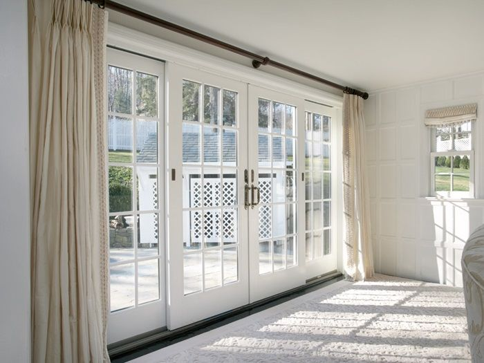 Best 25 sliding door treatment ideas on pinterest for Double sliding patio doors