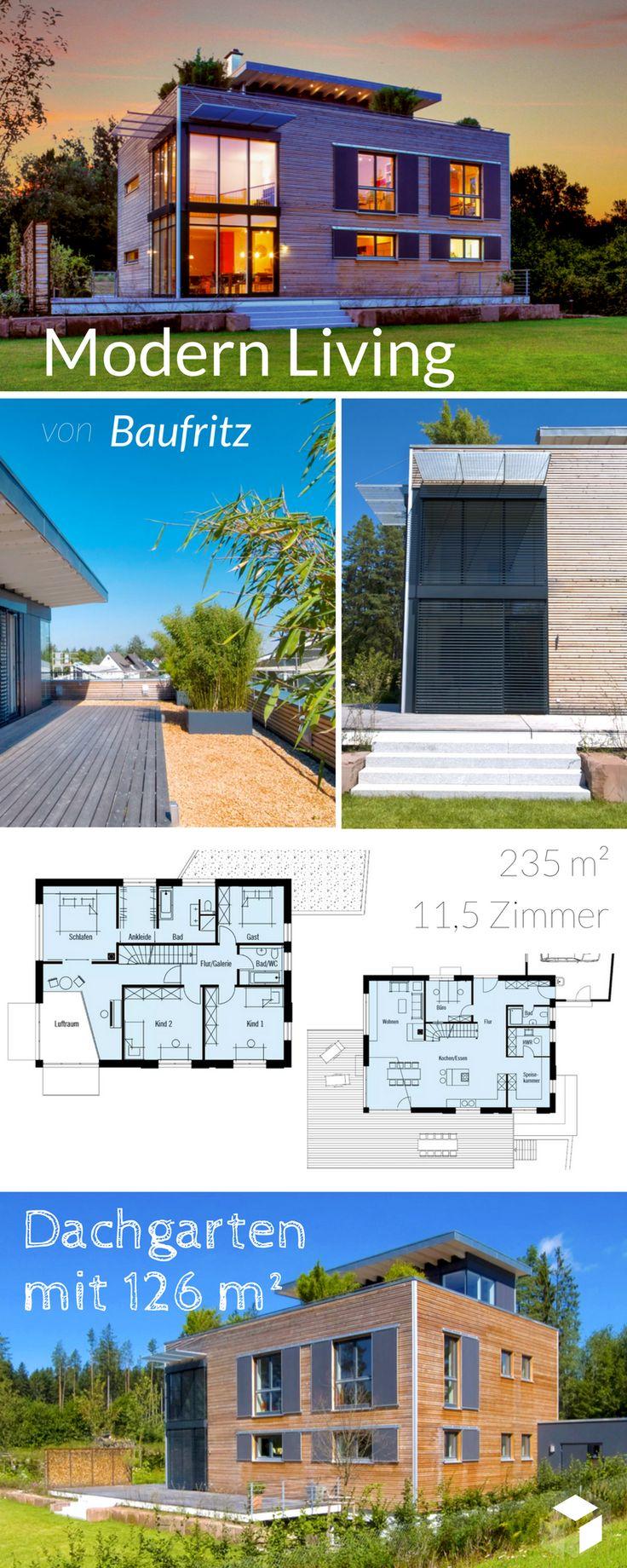 23 best Häuser mit Dachterrasse images by Fertighaus.de on Pinterest ...